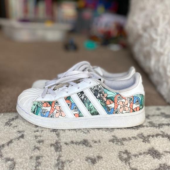 adidas Shoes | Tropical Print Superstar